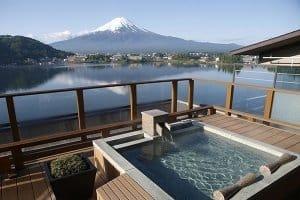 Ryokan avec vue sur le Mont Fuji